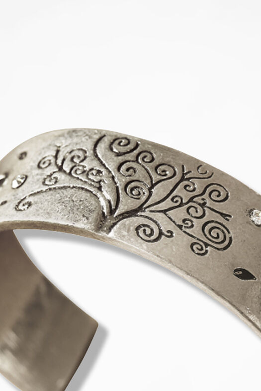 Dreaming Tree Cuff, Silver, large