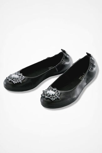 """Georgetta"" Flats by Easy Spirit®, Black, large"