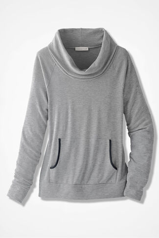 Tipped Pocket Pullover, Shell Grey, large