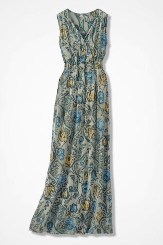 Mystery Garden Maxi Dress, Floral, large