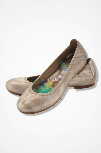 """Julianne"" Flats by Born®, Gold, large"