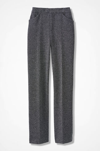 The Stretch Tweed Knit Gallery Pant, Black/White, large