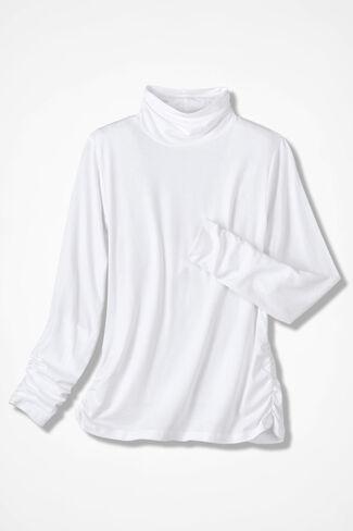 PrimaKnit® Turtleneck, White, large