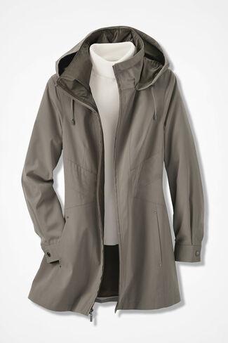 Three-Season Raincoat, Taupe, large
