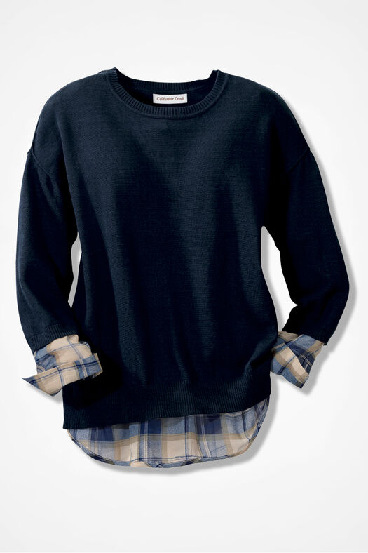 Plaid Peek Sweater