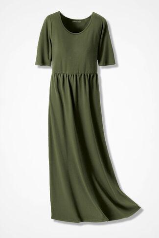 Supima® Long Story Maxi Dress, Cypress, large