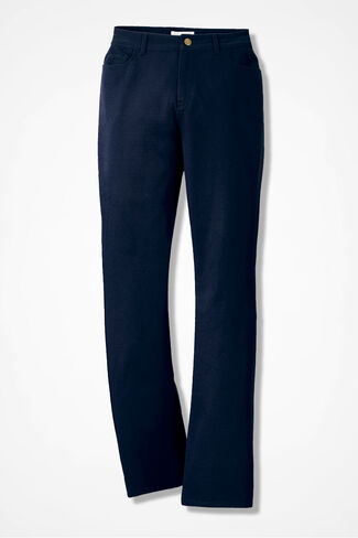 Washed CottonLuxe® Bootcut Pants, Navy, large