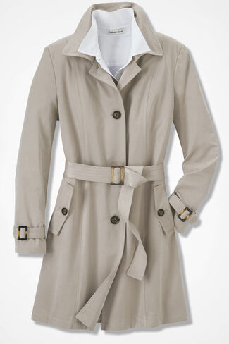 Essential Trench Coat, Alabaster, large