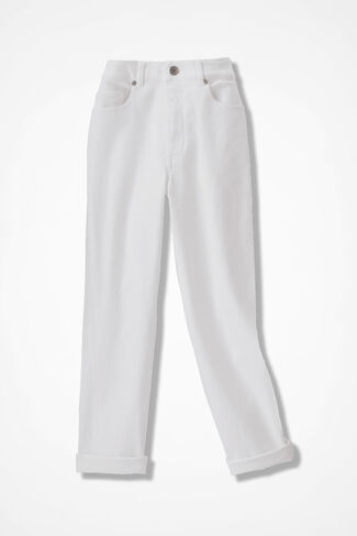 The Creek® Cropped Jeans, White, large