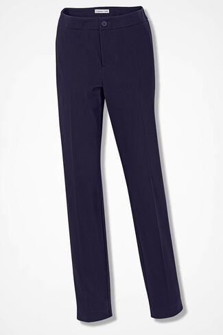 CottonLuxe® Ankle Pants, Navy, large