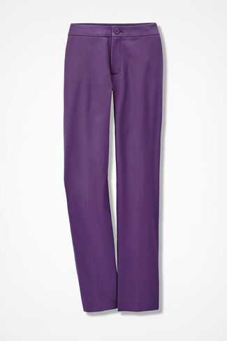 CottonLuxe® Ankle Pants, Boysenberry, large