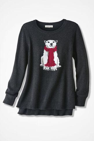 Polar Bear Sweater, Charcoal, large