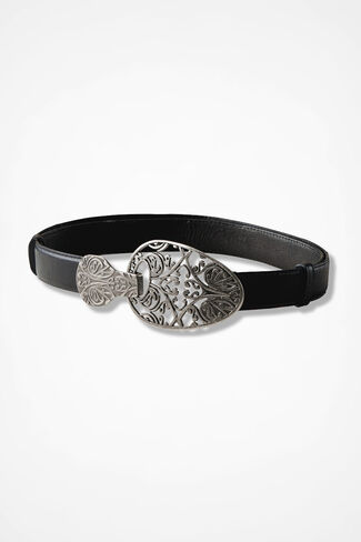 Guinevere Filigree Belt, Black, large
