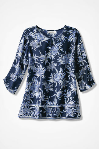 Border Blues Swing Top, Navy, large