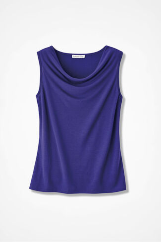 Drape-Neck Shell, Ultra Violet, large