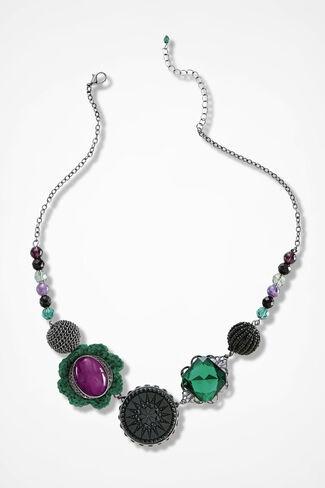 Vintage Inspiration Necklace, Silver, large