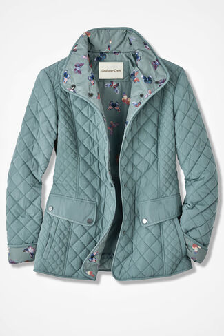 Spring Forward Quilted Jacket, Sea Foam, large
