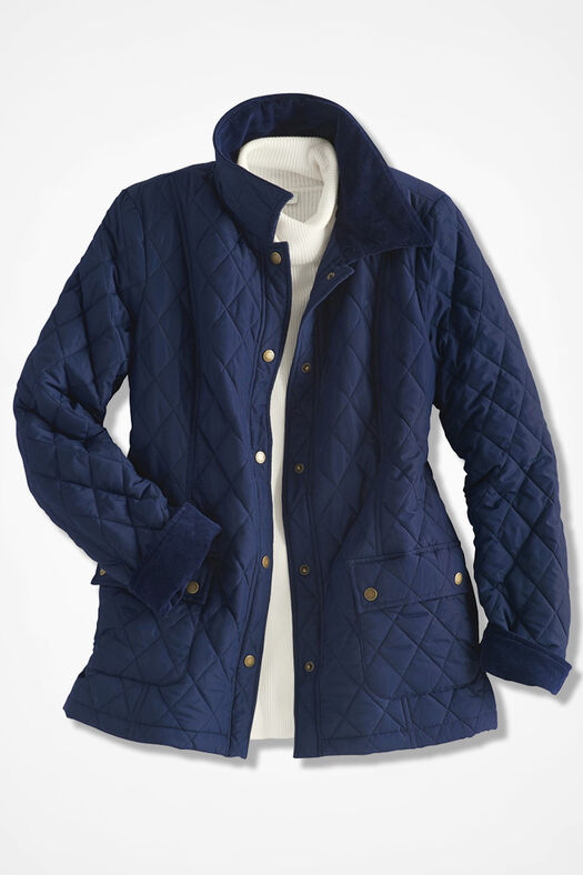 Quilted Barn Jacket Navy