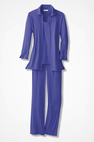 Elegance 3-Piece Pant Set, Grape, large
