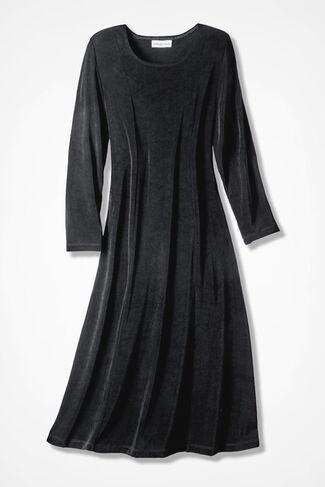 Destinations Princess-Seam Dress, Black, large