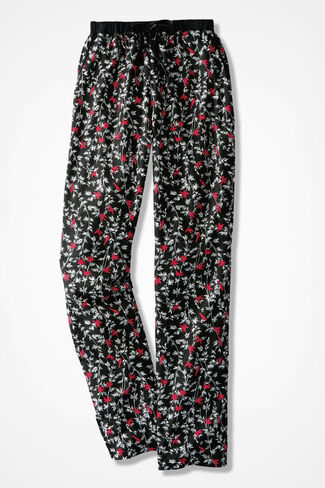 Redbirds Print Flannel PJ Pants, Black Multi, large