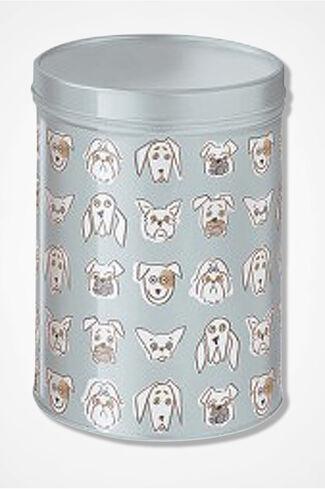 Happy Dogs Treat Tin, Blue, large