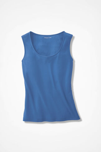 Perfectly Simple Shell, Medium Blue, large