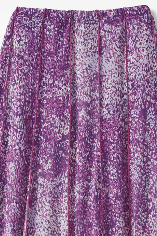 Meadowprint Mesh Knit Skirt, Boysenberry, large