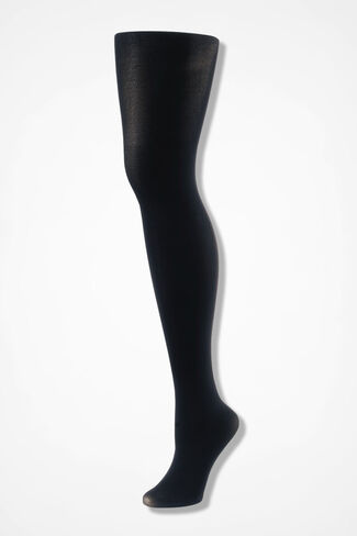 Coldwater Creek® Opaque Tights, Black, large