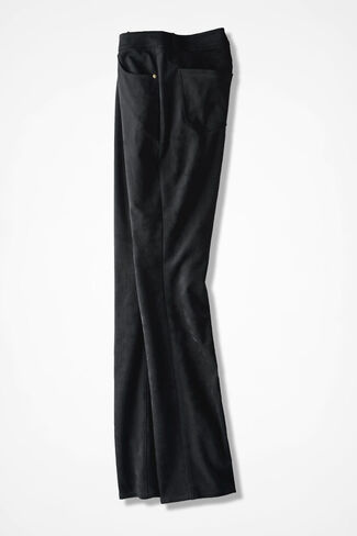 Premiere Faux Suede Pants, Black, large