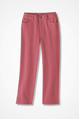 Washed CottonLuxe® Crops, Dusty Rose, large