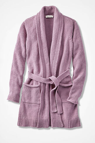 Fireside Chenille Robe, Pink Thistle, large