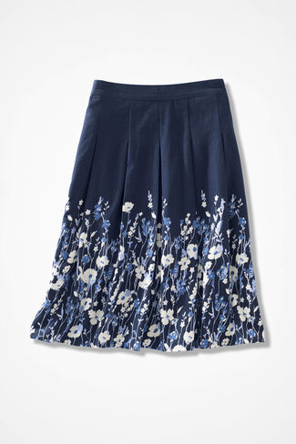 Climbing Vines Skirt, Navy, large