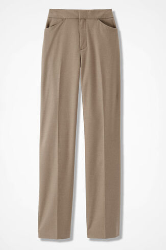 The Stretch Flannel Gallery Pant, Camel Heather, large