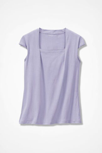 Anytime Square Neck Tank, Pale Lavender, large