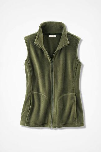 Great Outdoors Fleece Vest, Cypress, large