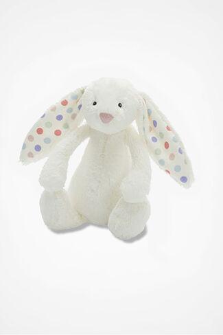"""""""Bashful Dot"""" Bunny by JellyCat®, White, large"""