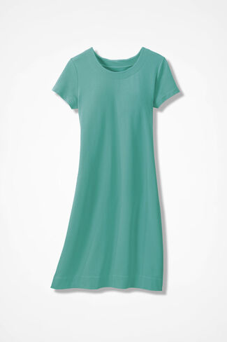 Capri Knit Dress, Bright Aqua, large