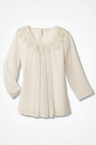 Keepsake Embroidered Blouse, Ivory, large