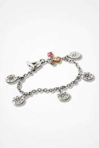 Daisy Bracelet, Silver, large