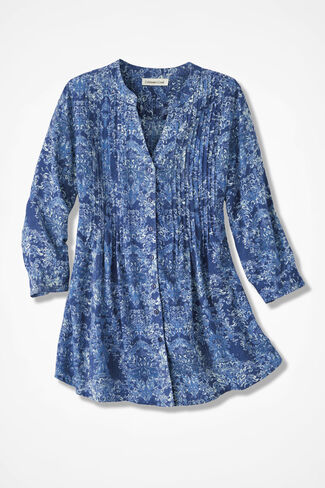 Indigo Mood Medallion Tunic, Indigo, large