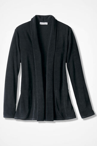 Destinations Shaped Cardigan Jacket, Black, large