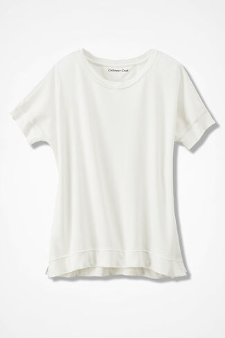 French Terry Pullover, White, large