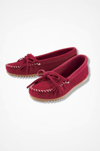 """""""Kilty"""" Moccasins by Minnetonka®, Red, large"""