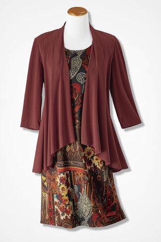 Autumn Story Jacket Dress, Rust, large