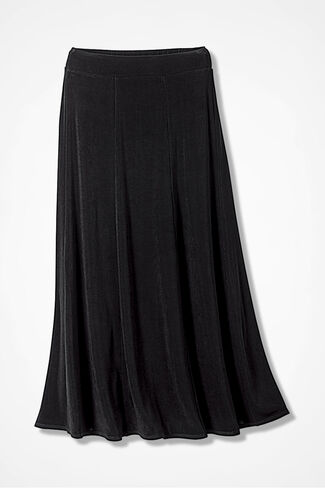 Destinations by Coldwater Creek® Gored Skirt, Black, large