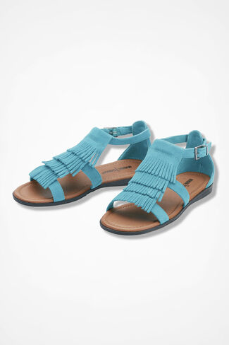 """Maui"" Sandals by Minnetonka®, Turquoise, large"