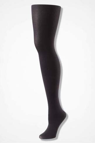 Opaque Microfiber Tights, Grey, large