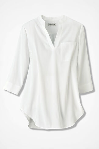 Go With the Flow Tunic, White, large