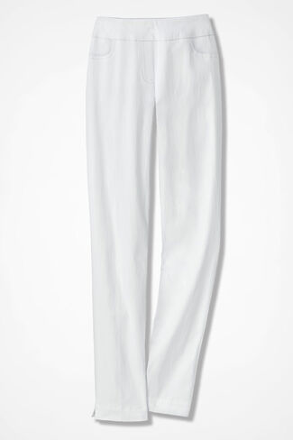 Pull-On Day-to-Dinner Pants, White, large